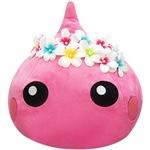 【WEB限定価格】【ネット限定】ワンポイントイエロー/プルメリアの花冠をかぶったほっぺちゃんジャンボぬいぐるみ