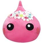【WEB限定価格】【ネット限定】ワンポイントパープル/プルメリアの花冠をかぶったほっぺちゃんジャンボぬいぐるみ