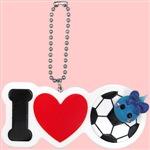 【数量限定】サッカー/ほっぺちゃんのりI Love 部活キーチェーン