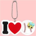 【数量限定】野球/ほっぺちゃんのりI Love 部活キーチェーン